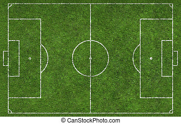 Football Pitch - Overhead shot of a football pitch