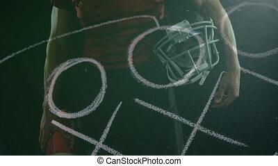 football, plan, entraîneur, joueur