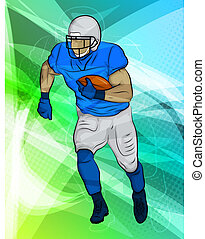 Football Player - Abstract Sports Background with a...