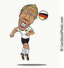 football, player., allemand