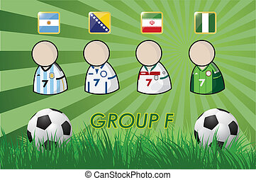 football Player and Flags 2014
