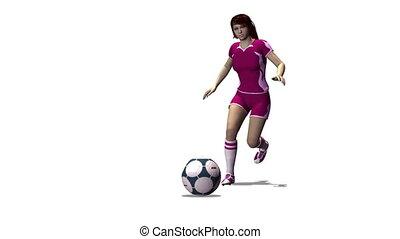 female football player