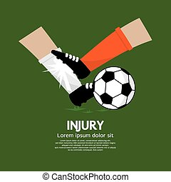 Football Player Make Injury.