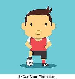 Football Player Mascot.