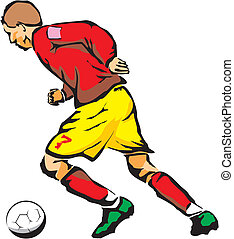 football player - most popular sport of the world