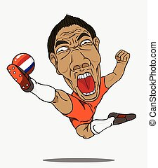 football, player., netherland