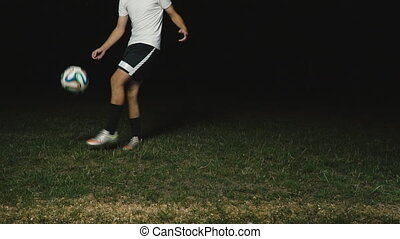 football player playing with a ball