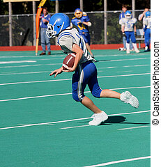 Football Player Running 2 - Teen Youth Football Player...
