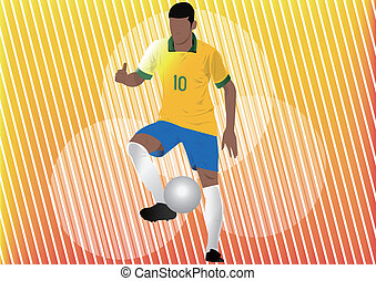Football player soccer silhouette