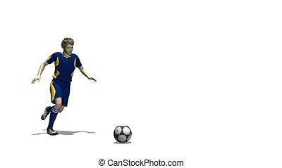 Football player - male football player