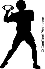 Football Player throws ball