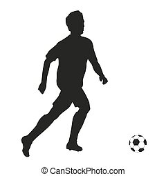 football, player., vecteur, silhouette
