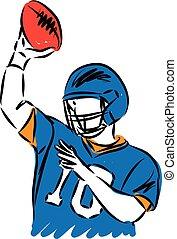 football player vector illustration.eps