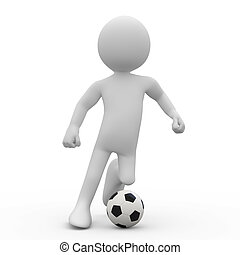 Football player with a ball