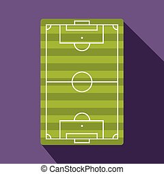 Football playground flat icon