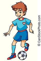 Football Playing Boy