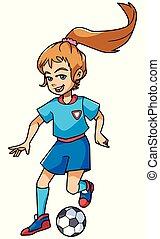 Football Playing Girl