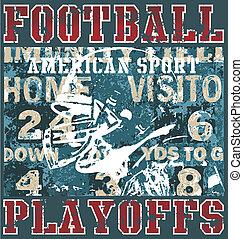 football playoffs - american football illustration for shirt...