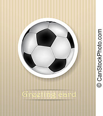 Football postcard vector illustration