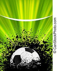 Football poster blue light burst. EPS 8