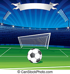Football Poster - Football Champions League vector poster...