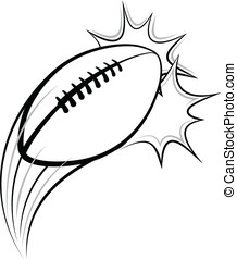 Football Pow - Vector illustration of a football swooping...