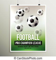 football pro championship league flyer template
