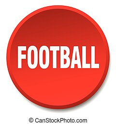 football red round flat isolated push button