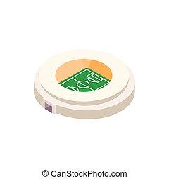 Football round stadium 3d icon