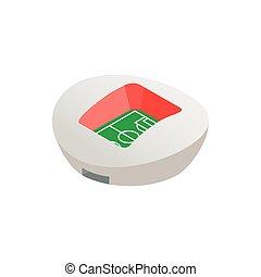 Football round stadium isometric icon
