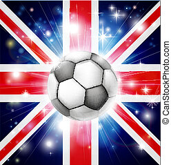 football, royaume-uni, drapeau