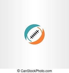 football rugby icon logo vector illustration