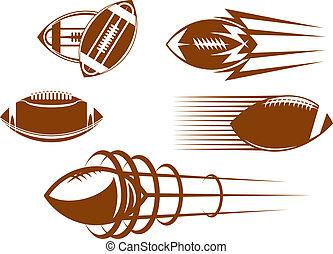 football, rugby, mascotti