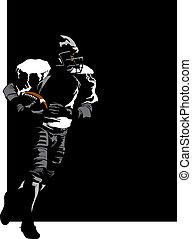 Football Runner on Black
