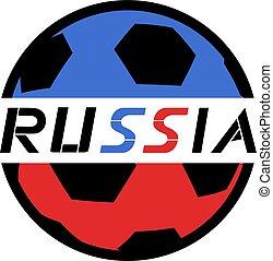 football, russie, balle, icône