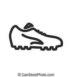 Football, shoes, soccer, player, foot wear icon vector image. Can also be used for sports, fitness, recreation. Suitable for web apps, mobile apps and print media.