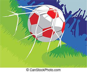 football - shot on target