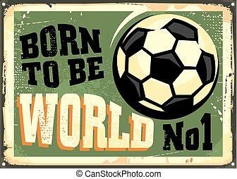 Vintage soccer poster design