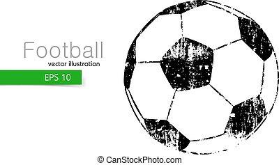 football, silhouette, ball.