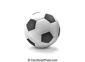 football soccer ball 3d render