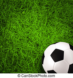 football, soccer ball on green grass field