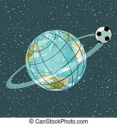 football soccer ball planet earth championship