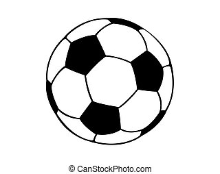 Football soccer ball vector isolated on white background.