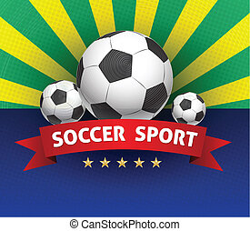 Football soccer ball with red ribbo