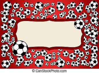 Football, soccer balls background illustration