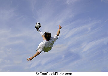 Football - Soccer - Bicycle Kick - Football - Soccer Player...