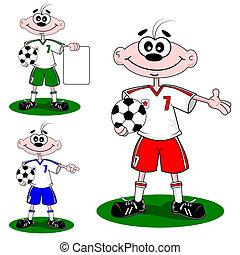 football soccer cartoon boy