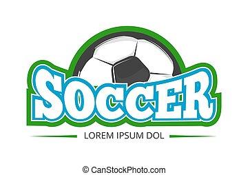 Football, soccer club vector logo, badge template