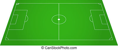 Football soccer field pitch