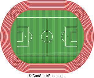 Football soccer field pitch